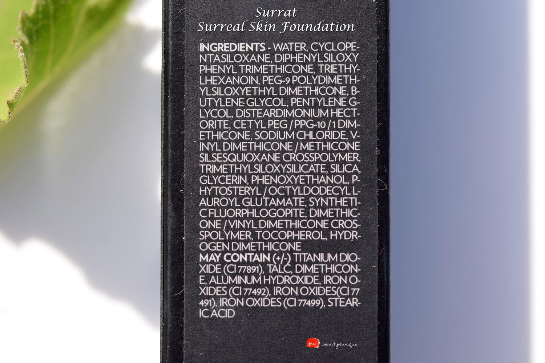 surrat-surreal-skin-foundation-ingredients