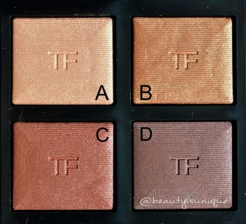 Tom Ford Honeymoon Palette swatches
