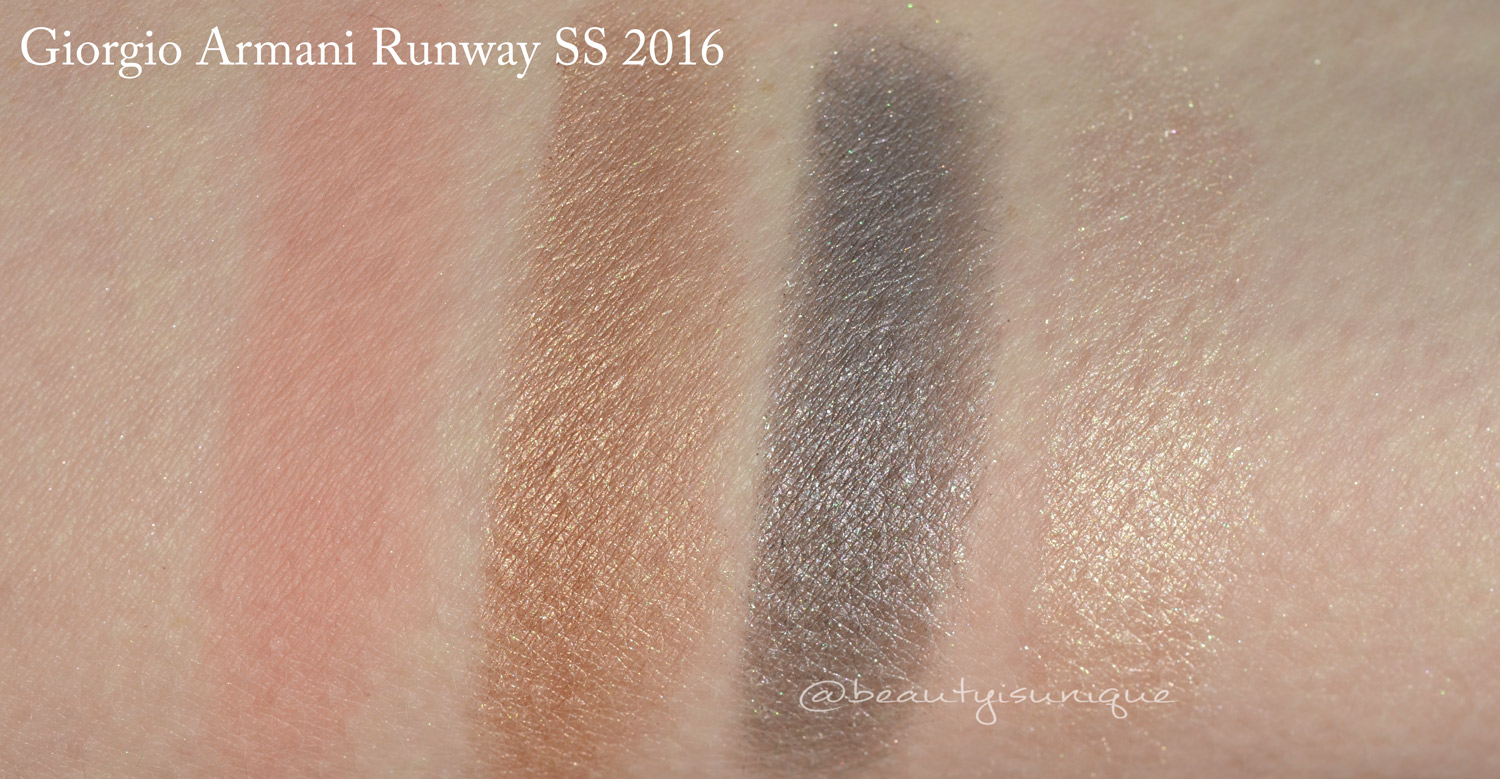 Armani Runway Palette SS 2016 swatches