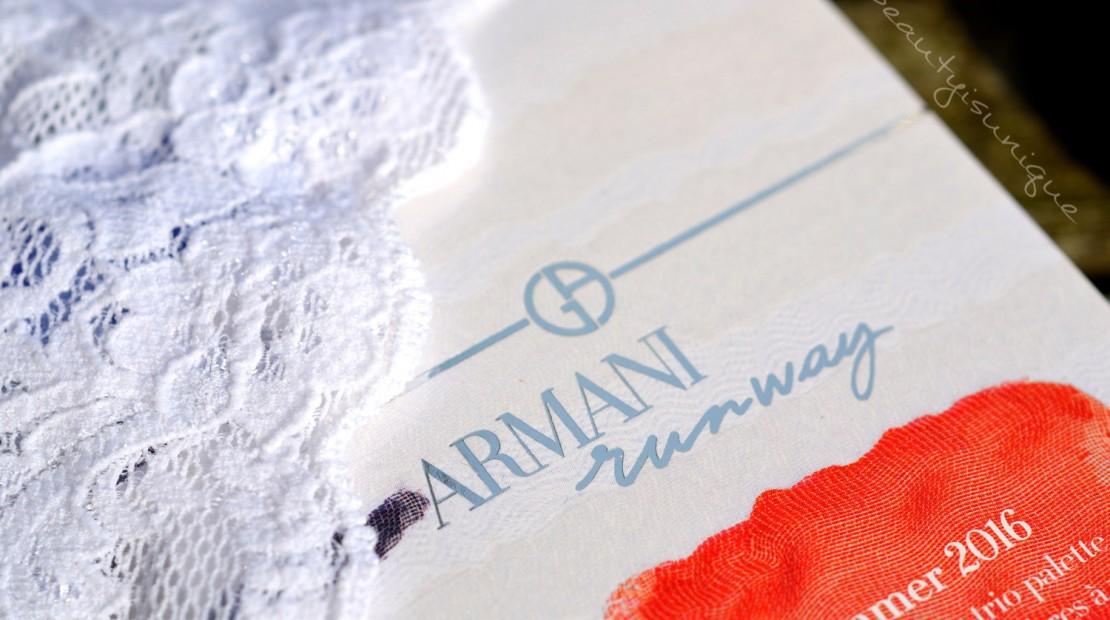 Armani Runway Palette SS 2016