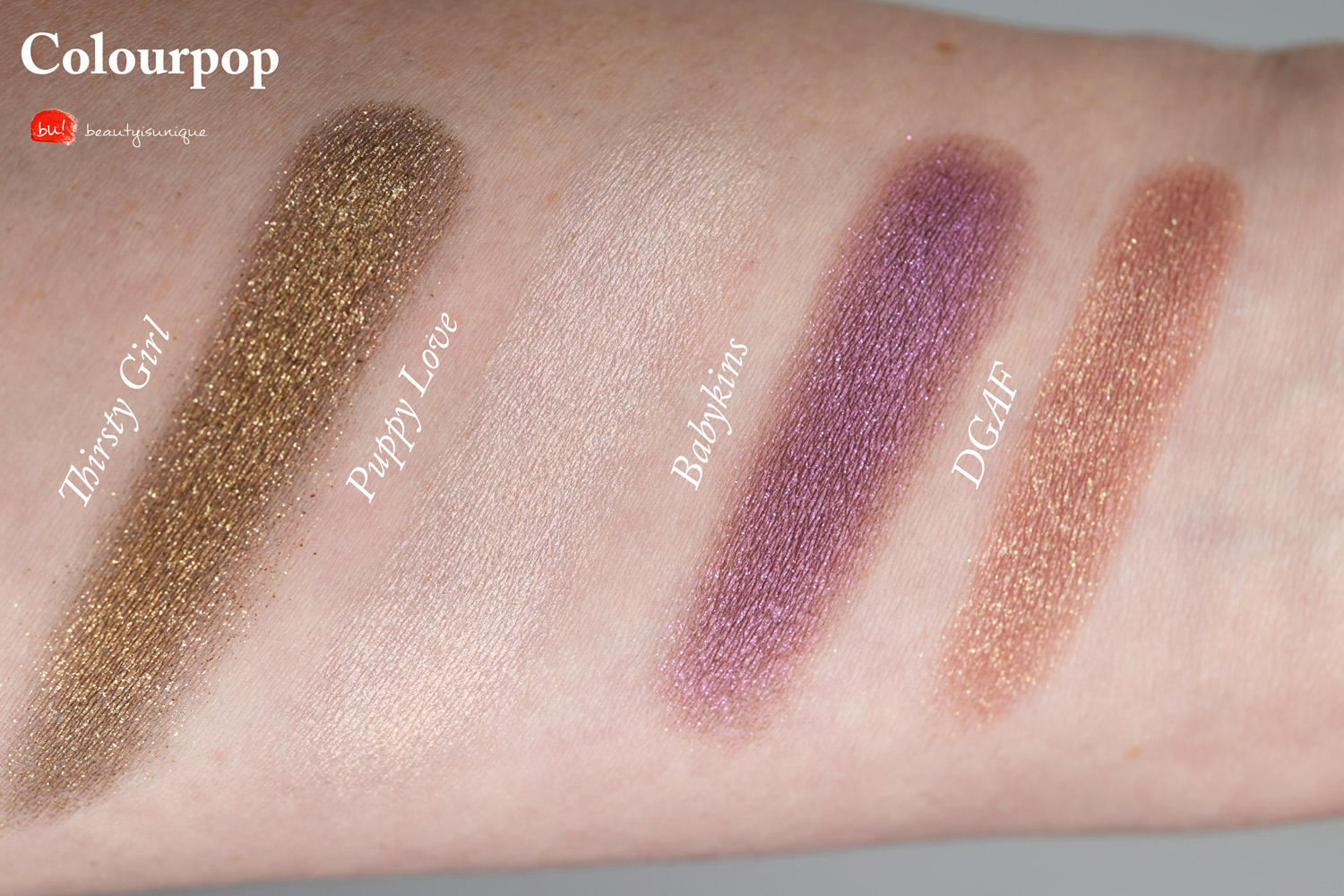 Colourpop-puppy-love-dgaf-swatches