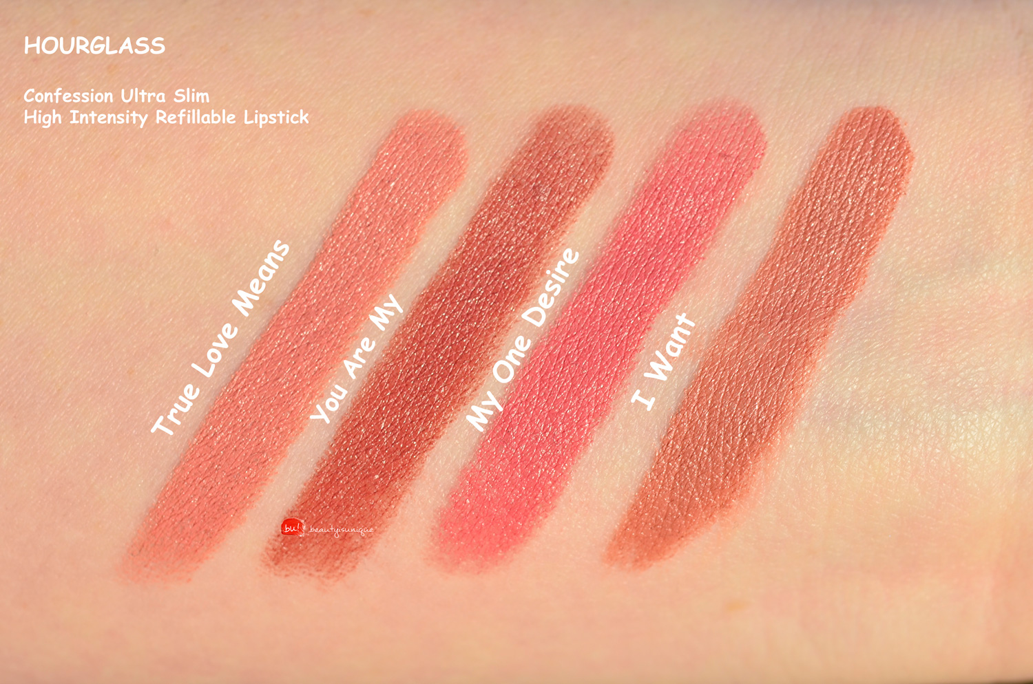 Hourglass-confession-lipstick-swatches