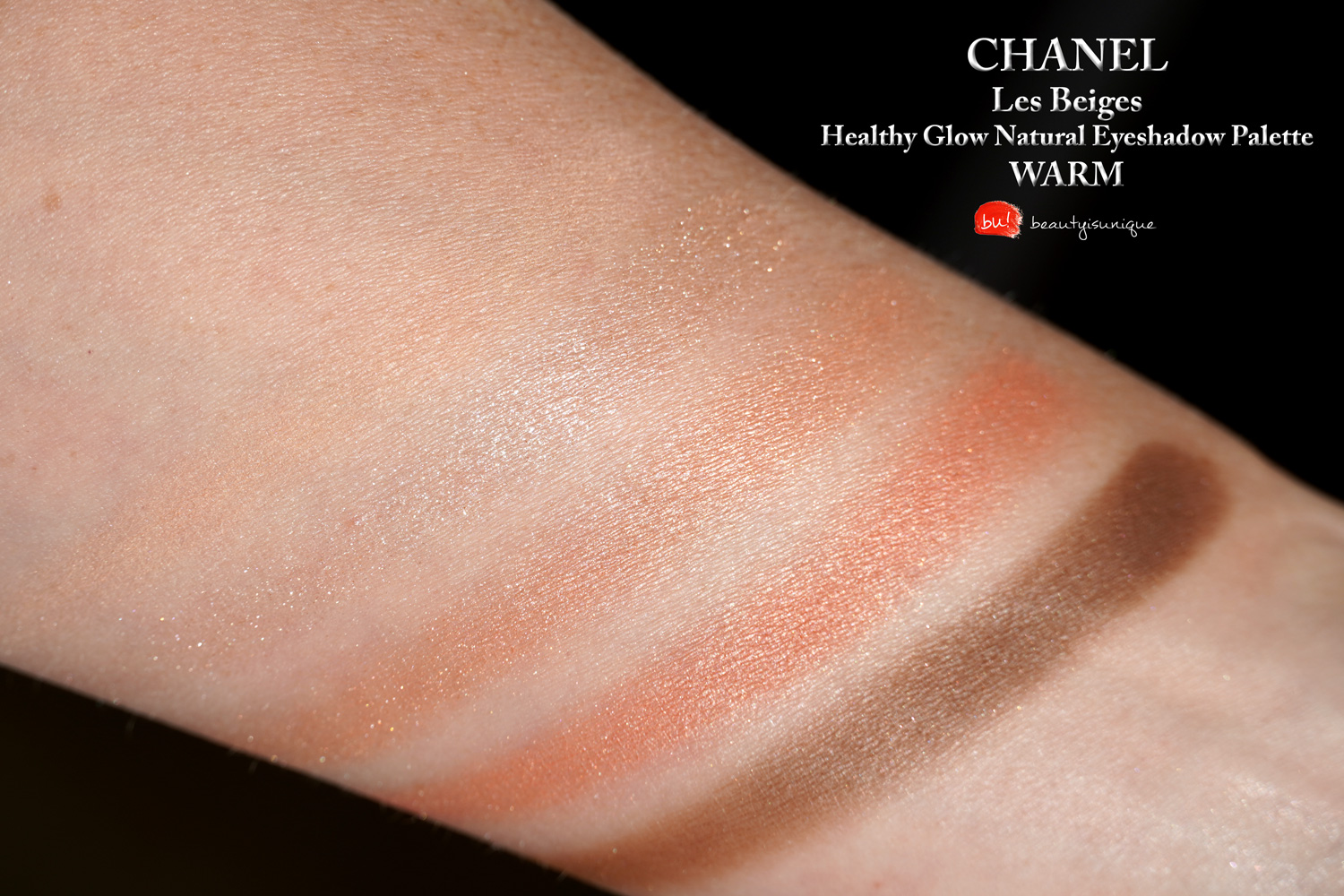 Chanel-les-beiges-palette-warm-swatches